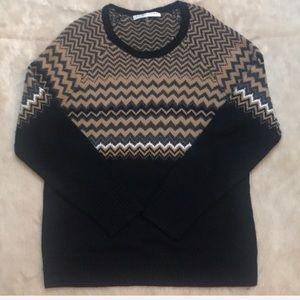 Trina Turk black & brown sweater , XL